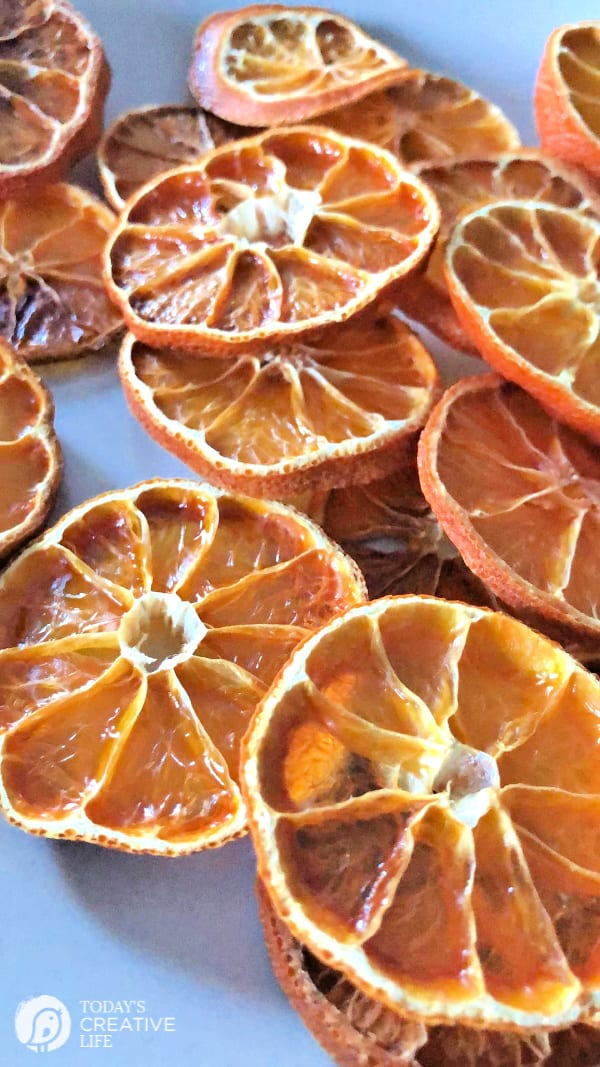 Dried Oranges in a cluster