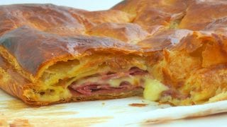Prosciutto and Fontina Stuffed Puff Pastry