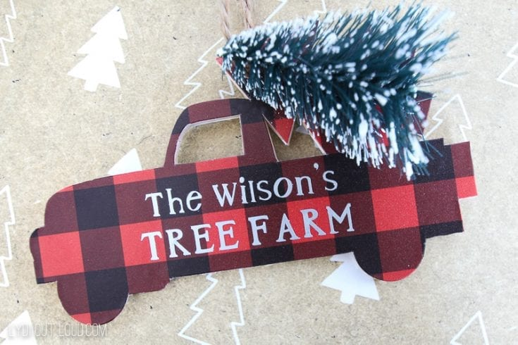 DIY Personalized Christmas Truck Ornament