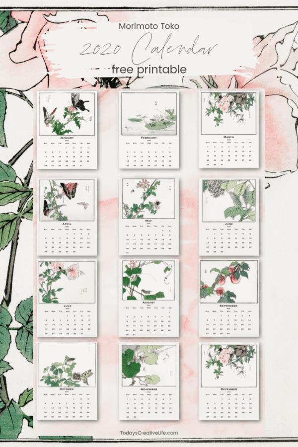 2020 Calendar Photo collage