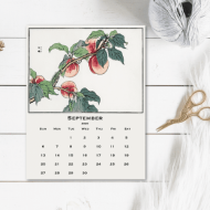 Japanese Art on a Printable Calendar