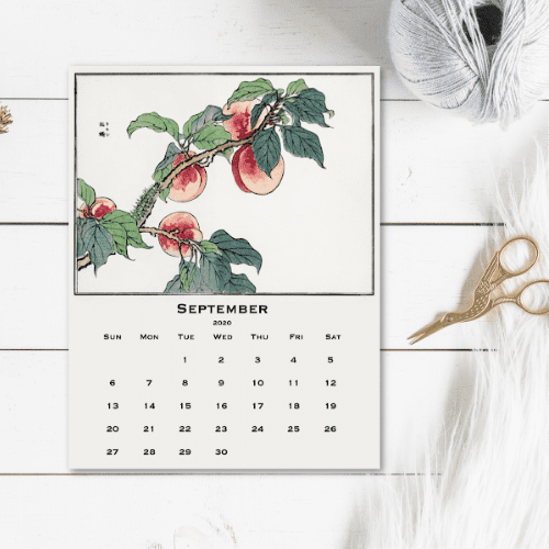 2020 Free Printable Calendar