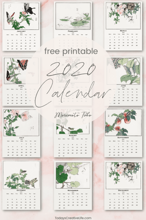 Photo Collage of printable calendars