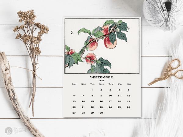 Japanese Art on a Printable Calendar