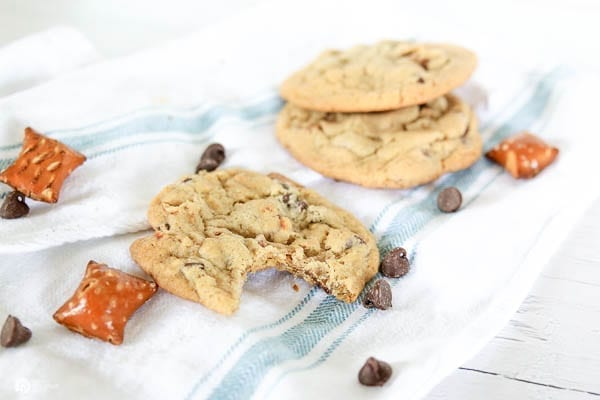 Cookies on a cloth napkin