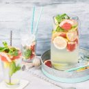 pitcher of infused water with fruits