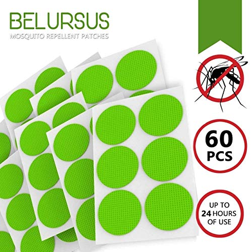 BELURSUS Rеpеllent Stickers for Family Kids Adults Natural Organic Repellent Patch with Essential Oils of Citronella Lemongrass Hypoallergenic Non-Toxic Deet-Free Long Protection
