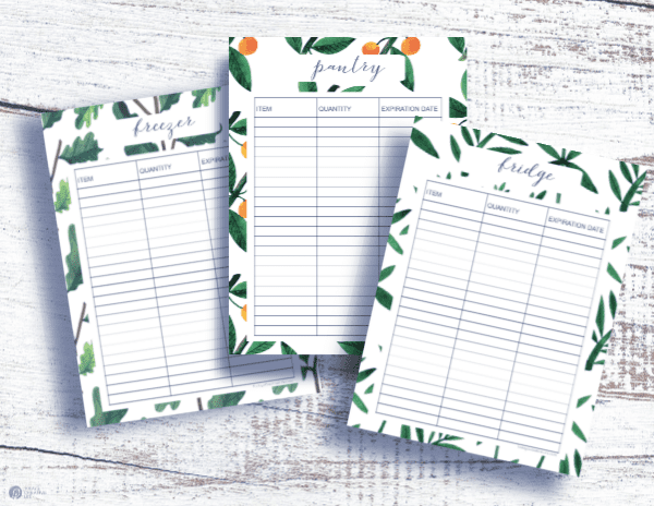 inventory printables for your kitchen