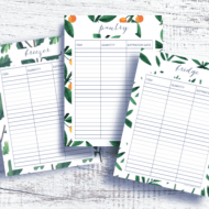 Pantry Inventory Printables