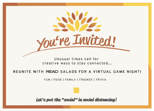 Invitation for Virtual Trivia Game Night