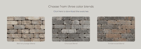 photos of stone color options for an outdoor fireplace