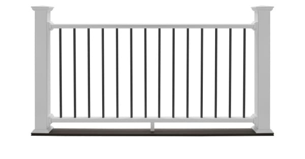 White deck railing product.