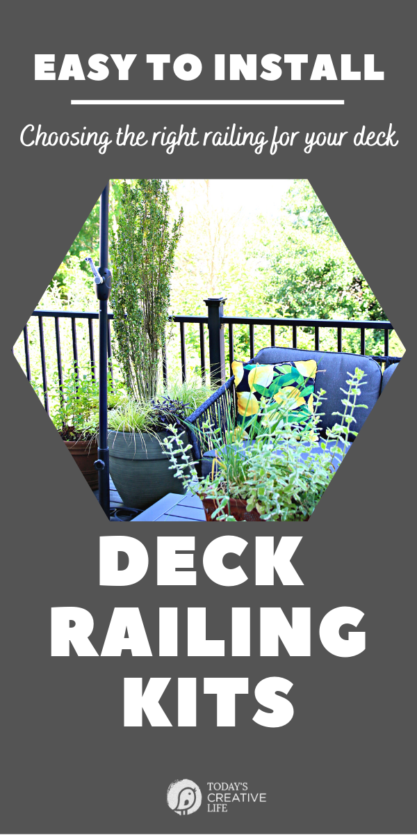 Photo collage with photo of deck with plants