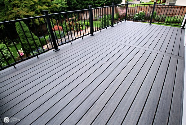 Composite Deck with Black Railings
