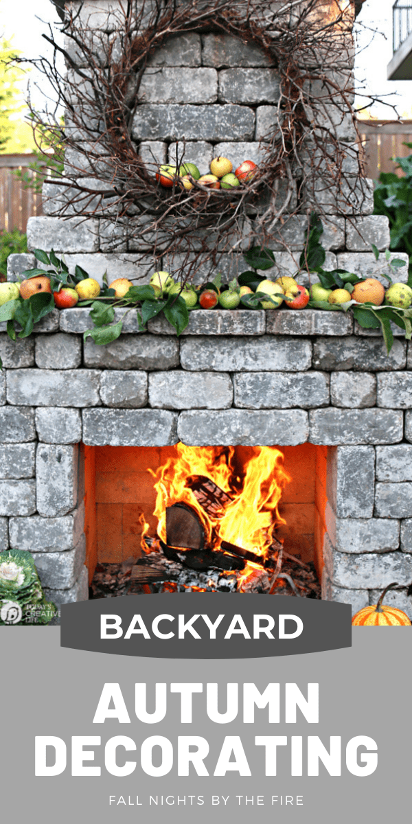Photo collage for Backyard Autumn decorating