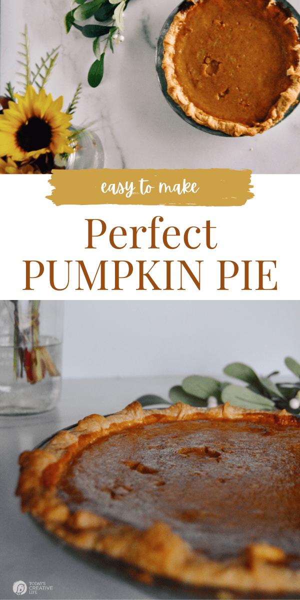 photo collage of pumpkin pie