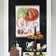 Fall Decorating with Botanical Wall Art