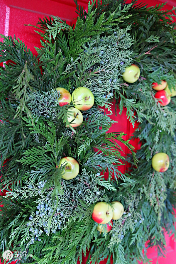 Cedar Wreath with apples