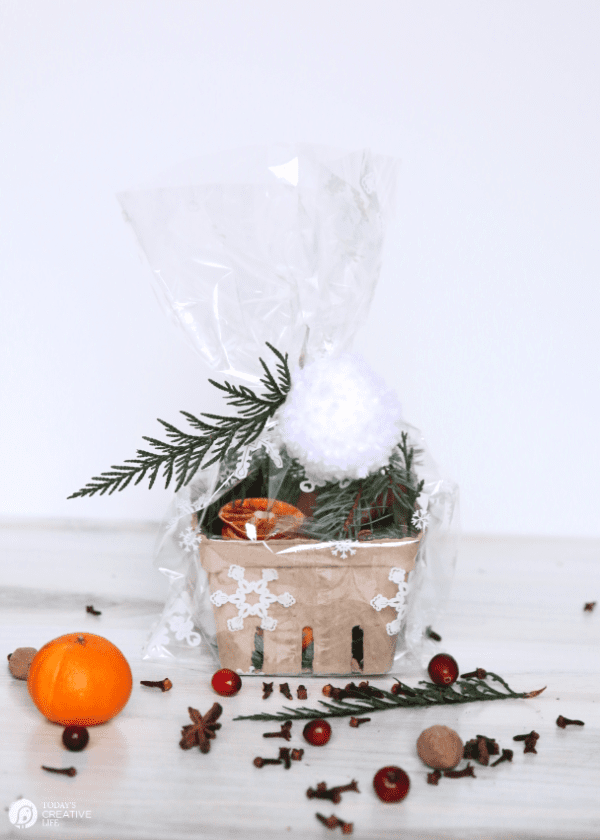 packaged and wrapped simmering Stovetop Potpourri