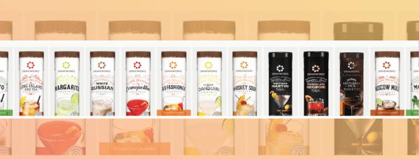 drinkworks drink pod flavors lined up