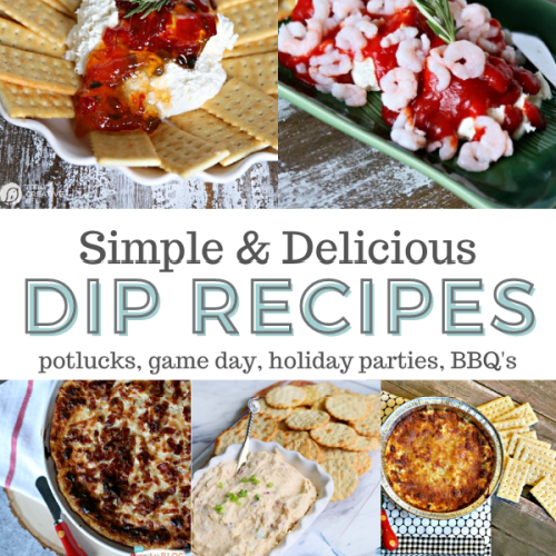 Easy Dip Recipes photo collage
