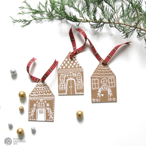 Gingerbread christmas ornaments homemade