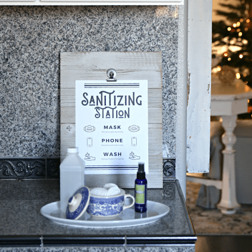 Sanitation Station with free printable