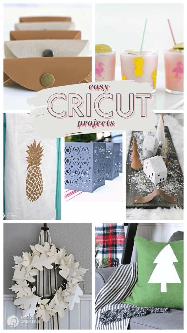 Photo collage of Cricut Craft Projects