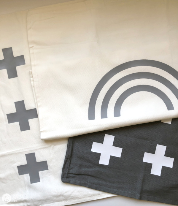 DIY Patio Ideas with Pillow Covers. Grey and white designs.