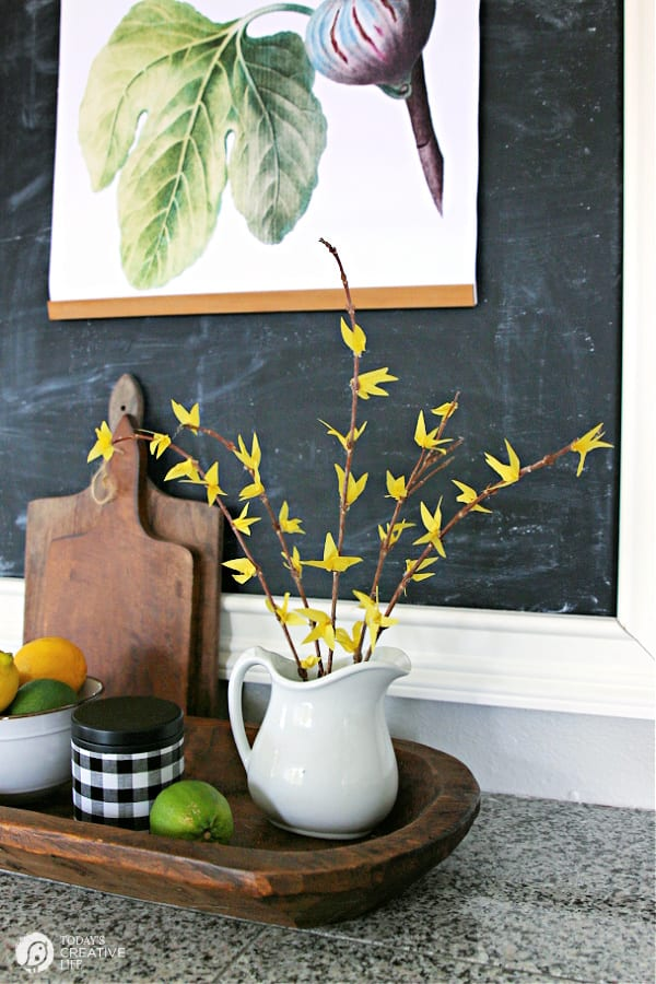 DIY Faux Forsythia branches for decorating.