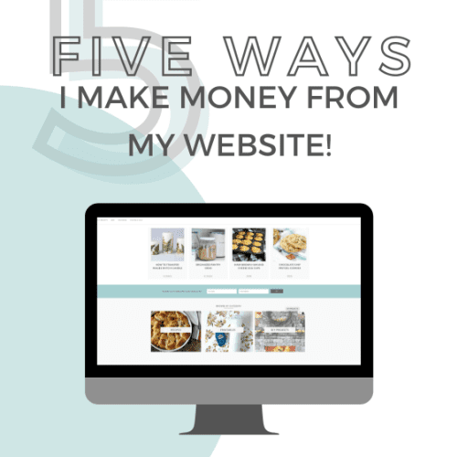 5 ways I make Money from my website image