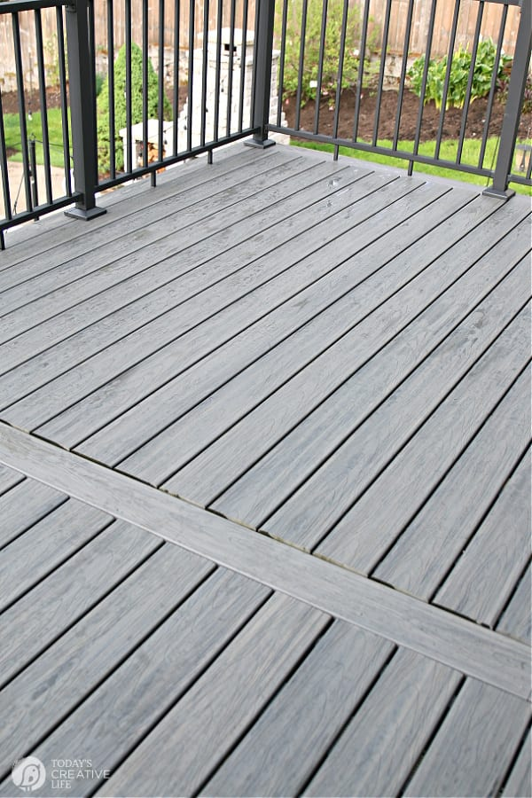 Cleaning a composite deck with Simple Green Soap