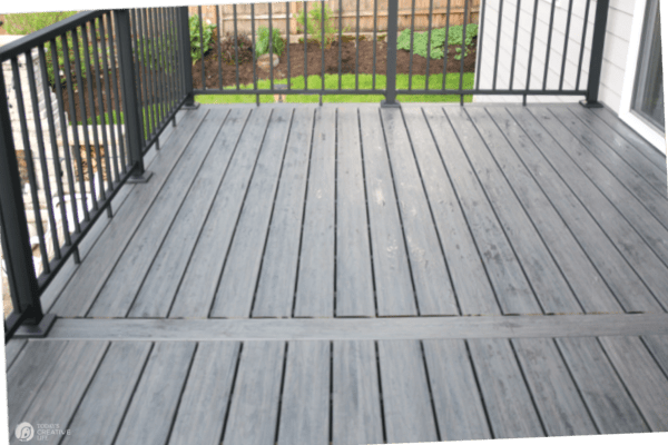 cleaning a composite deck with simple soap and water
