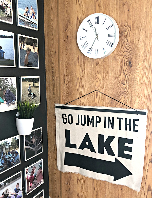 Go Jump in the Lake DIY for Wall Art