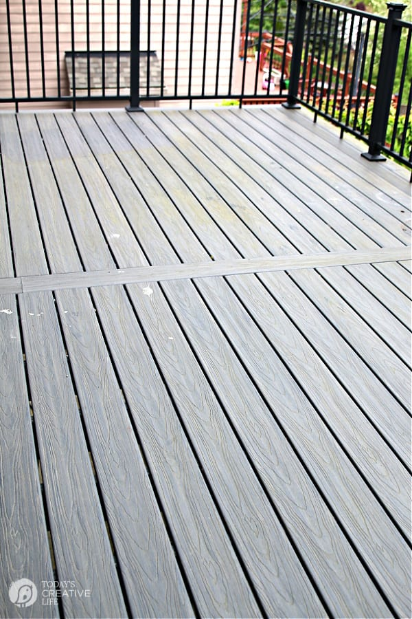 Mildew and dirt build up on composite deck