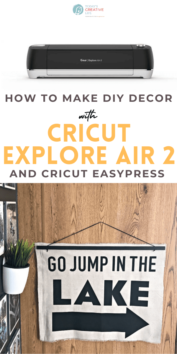 Cricut Craft Machine Project | Wall art made from canvas drop cloth.