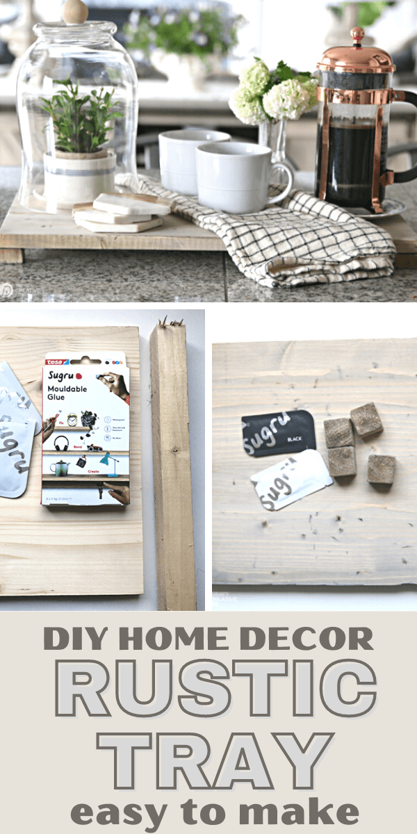 DIY Rustic Home Decor Wood Tray Tutorial