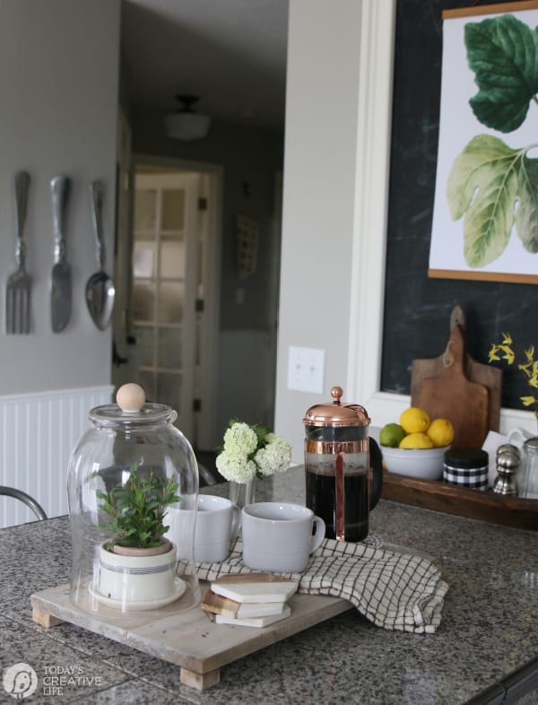 Decorated Kitchen with DIY Rustic Decor