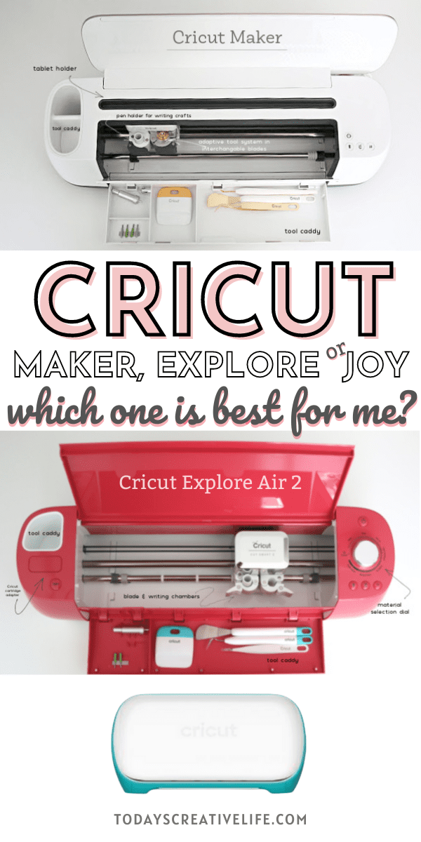 Cricut Maker, Cricut Explore Air 2 and Cricut Joy comparison. What Cricut is Best for Me?