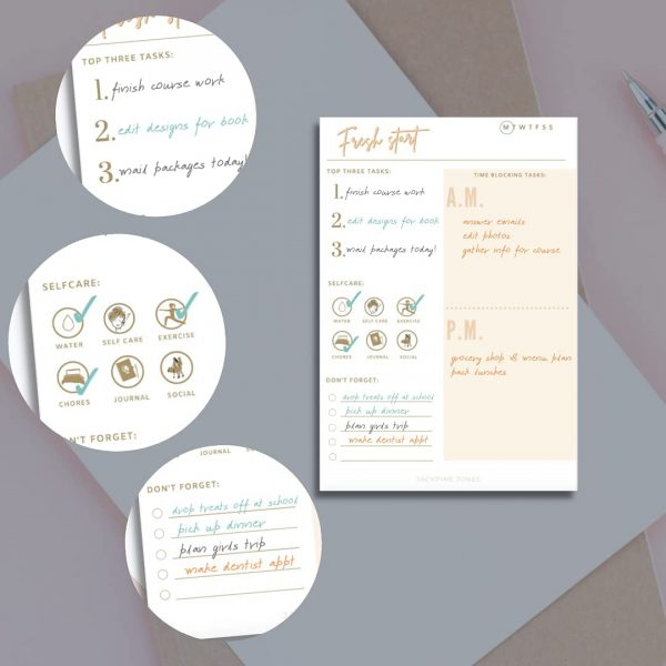 Daily Planner organizing ideas