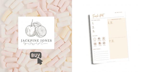 Buy Now Jackpine Jones daily planner button