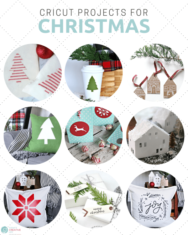 Cricut ideas for Christmas photo collage
