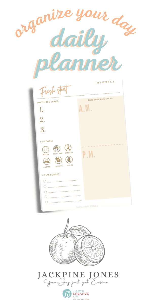 JackPine Jones Daily Planner tablet paper pad for organizing